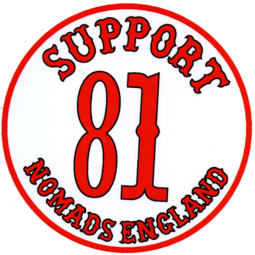 Support 81, Nomads England (Round Sticker)